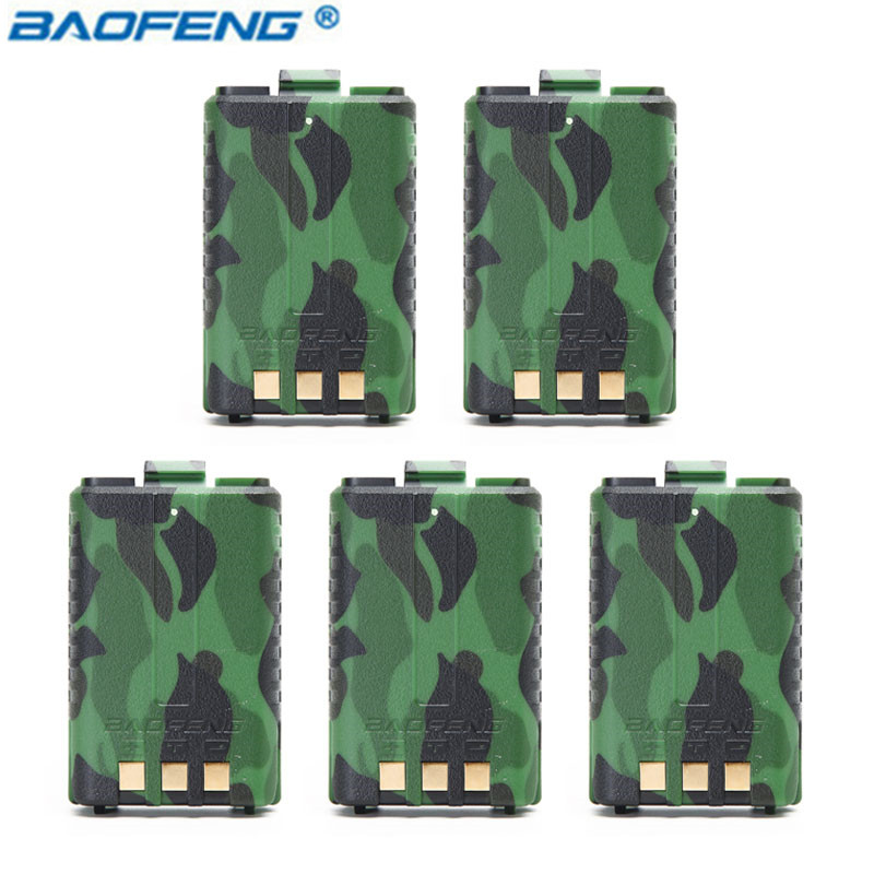 5 шт Оригинал BAOFENG UV-5R BL-5 7,4 V 1800 mAh Li-Ion Батарея для Baofeng Walkie Talkie UV-5R UV-5RE серии ветчина 2 способ радио