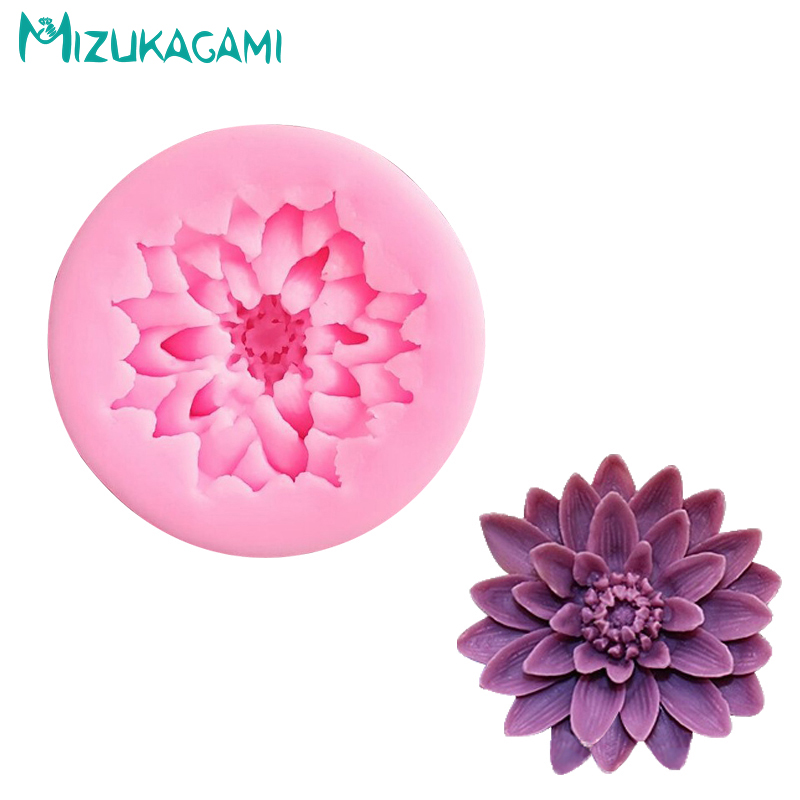 Форма для торта Lotus flower Mold для шоколад желе пудинг Candy Ice Cube Tray Mold Fondant Cake Decoration Tools kitchen DJ-00513