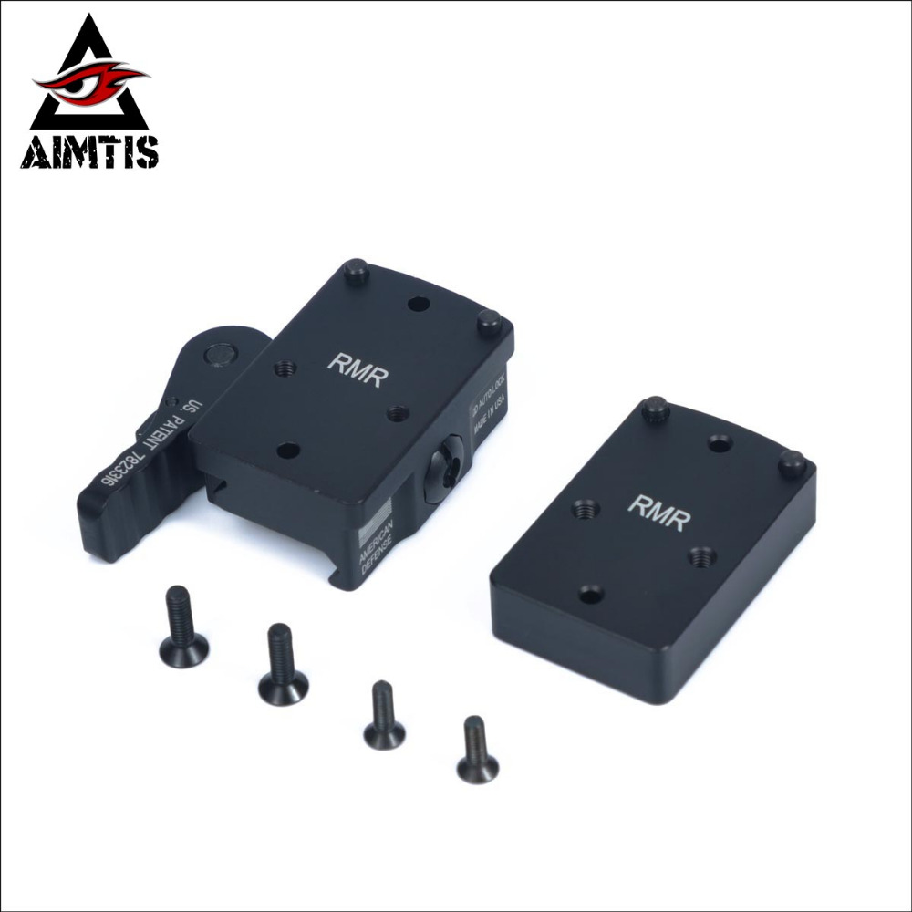 AIMTIS Trijicon RMR Mini Red Dot Sight QD Co-Witness Mount Riser Plate Anti Recoil fit 20 мм Weaver Picatinny Rail Rifle